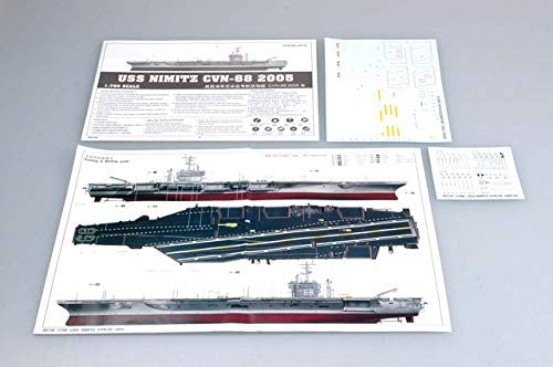USS Nimitz Aircraft Carrier CVN-68 2005, 1:700 Scale Model Kit Paint Guide