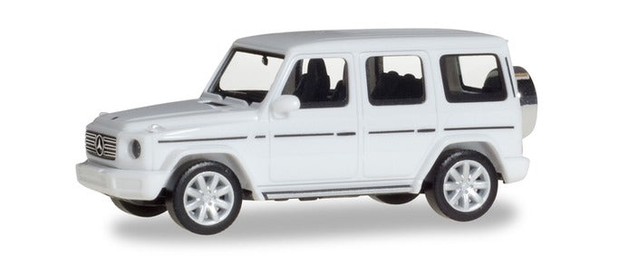 Mercedes Benz G Class Polar White 1:87 (HO) Scale Model By Herpa