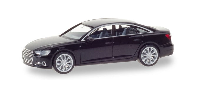 Audi A6 Limousine Brilliant Black 1:87 (HO) Scale Model By Herpa
