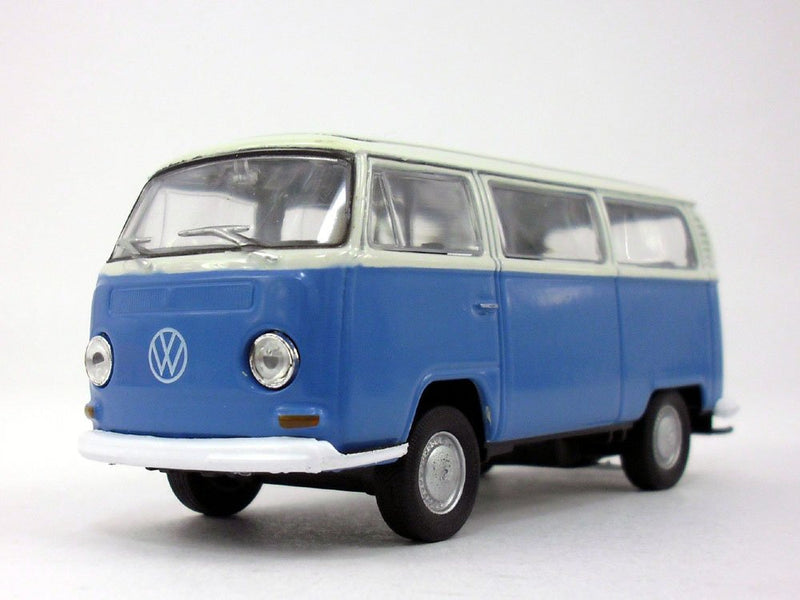 VW 1972 T2 Bus  (Blue) 1/38 Scale Model Car By Welly