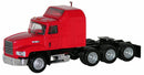 Mack 603/613 Truck – Triple Drive (Red)  Scale 1:87 (HO Scale) Model By Promotex
