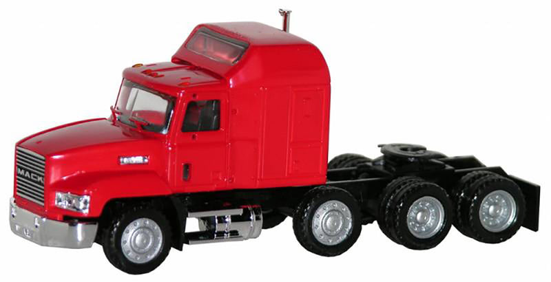 Mack 603/613 Truck – Lift Axle (Red)  Scale 1:87 (HO Scale) Model By Promotex