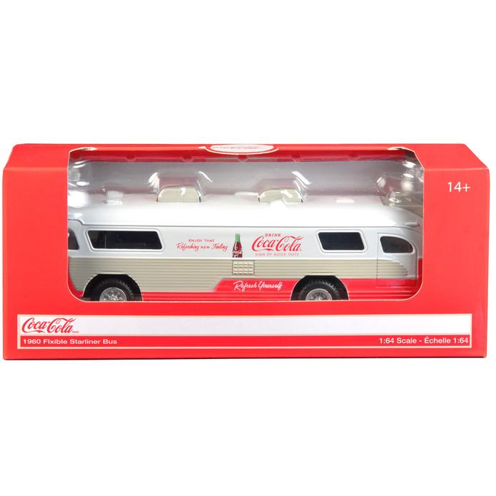 "Flxible Starliner Bus 1960 ""Coca-Cola"" 1/64 Scale Model In Box"