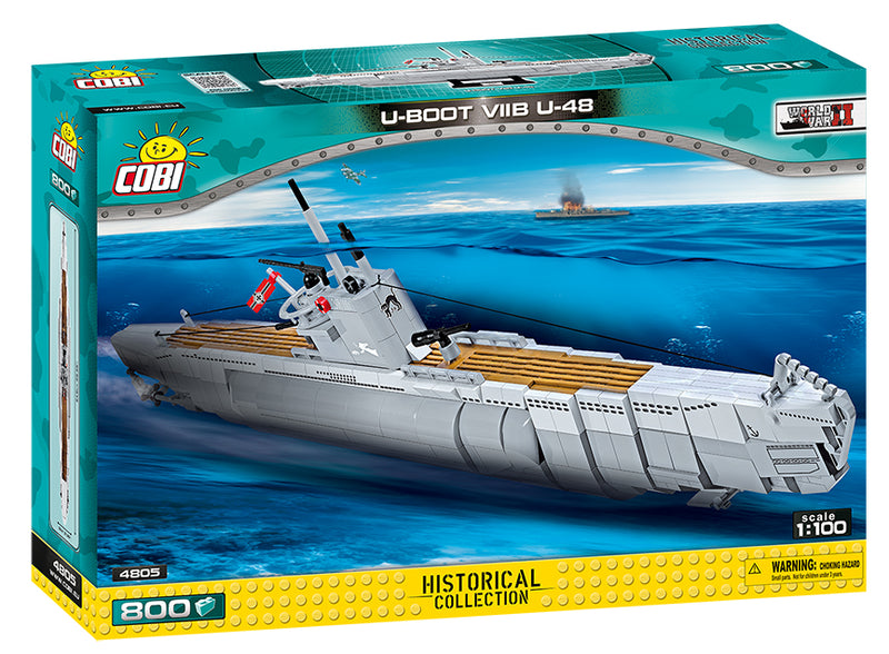 U-Boot U-48 Type VIIB Submarine, 800 Piece Block Kit By Cobi