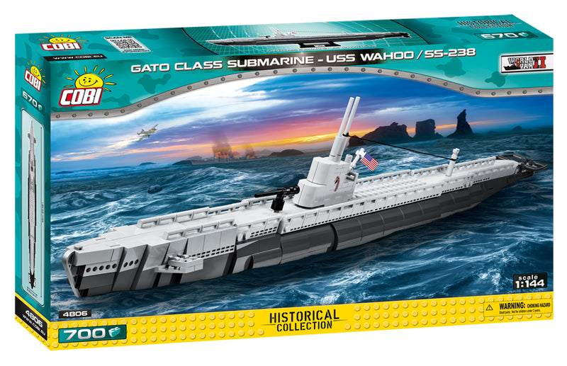 USS Wahoo Submarine SS-238, 700 Piece Block Kit By Cobi