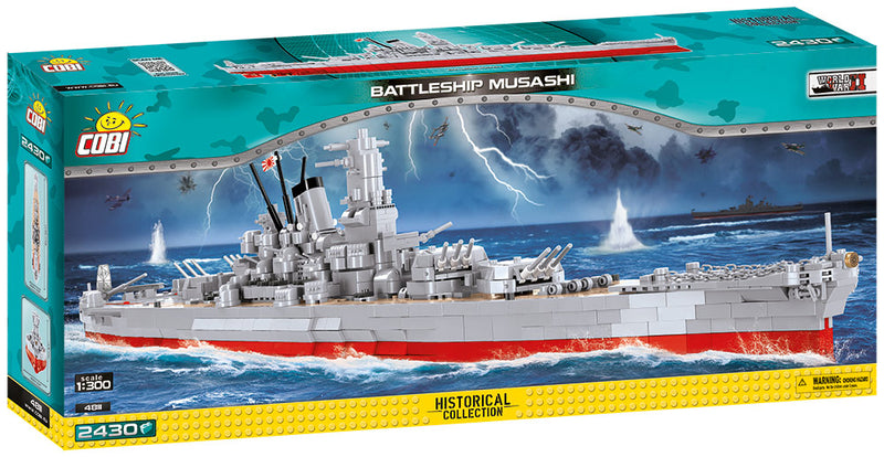 Musashi Battleship 1:300 Scale, 2430 Piece Block Kit By Cobi
