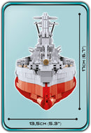 Musashi Battleship 1:300 Scale, 2430 Piece Block Kit By Cobi Front View