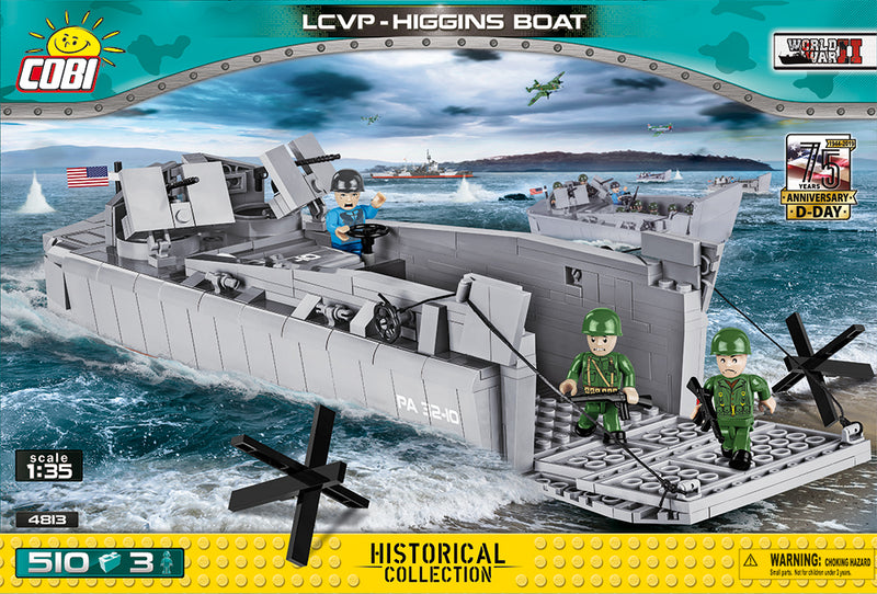 Landing Craft Vehicle Personnel (LCVP) Higgins Boat D-Day, 510 Piece Block Kit By Cobi Box Front