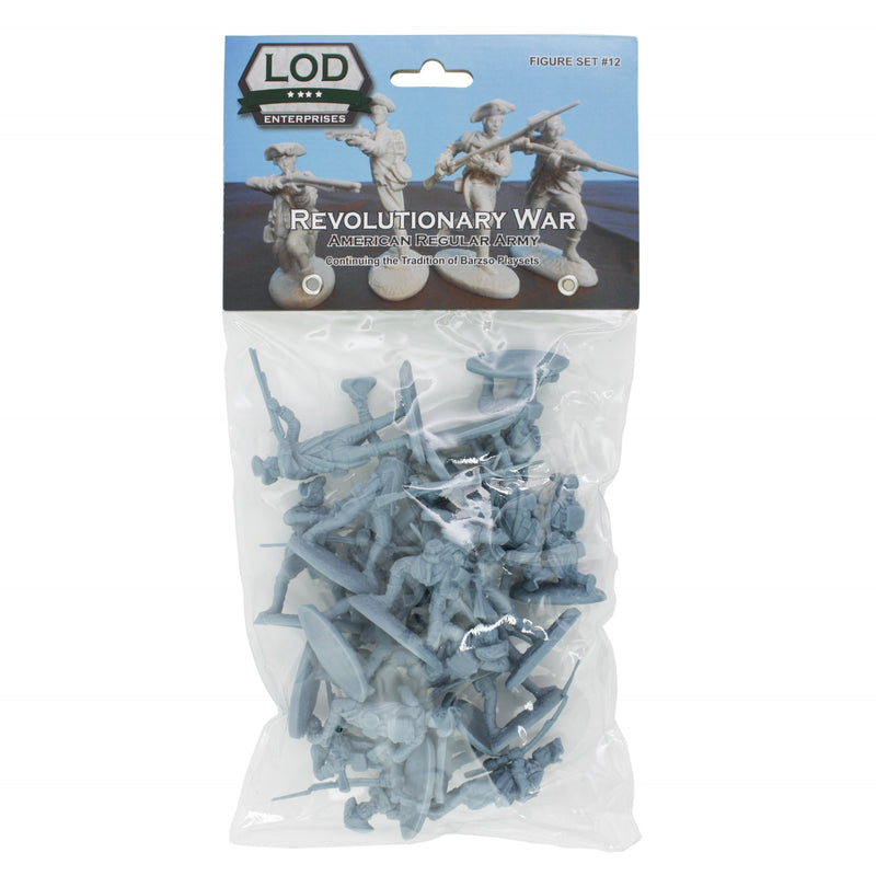 American War Of Independence American Regular Army 1/30 Scale Model Plastic Figures By LOD Enterprises Package