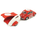 "Volkswagen Beetle W/ Teardrop Trailer 1967 ""Coca-Cola"" 1:43 Scale Diecast Model"