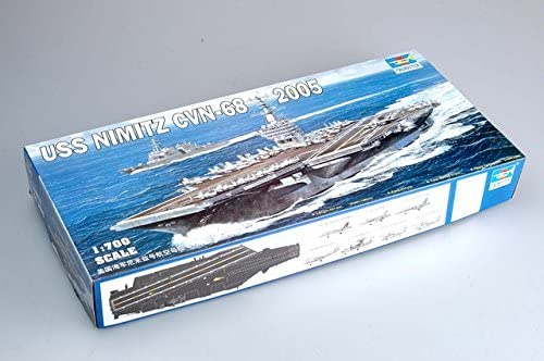 USS Nimitz Aircraft Carrier CVN-68 2005, 1:700 Scale Model Kit By Trumpeter
