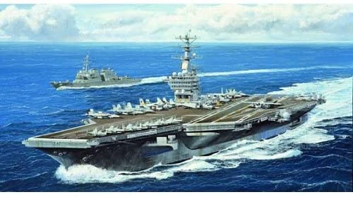 USS Nimitz Aircraft Carrier CVN-68 2005, 1:700 Scale Model Kit Box Art
