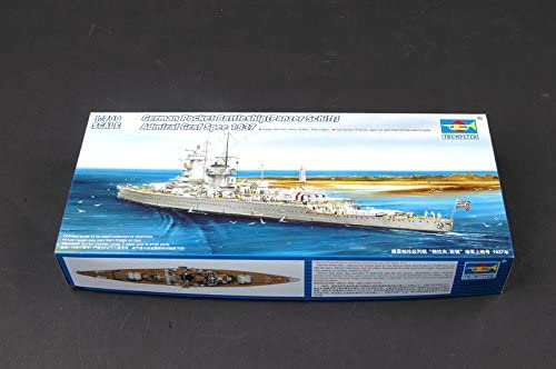 Admiral Graf Spee Pocket Battleship 1937, 1:700 Scale Model Kit By Trumpeter