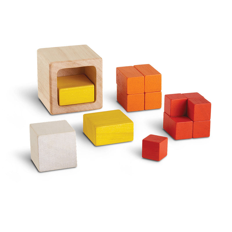 Fraction Cubes Wooden Blocks By Plan Toys