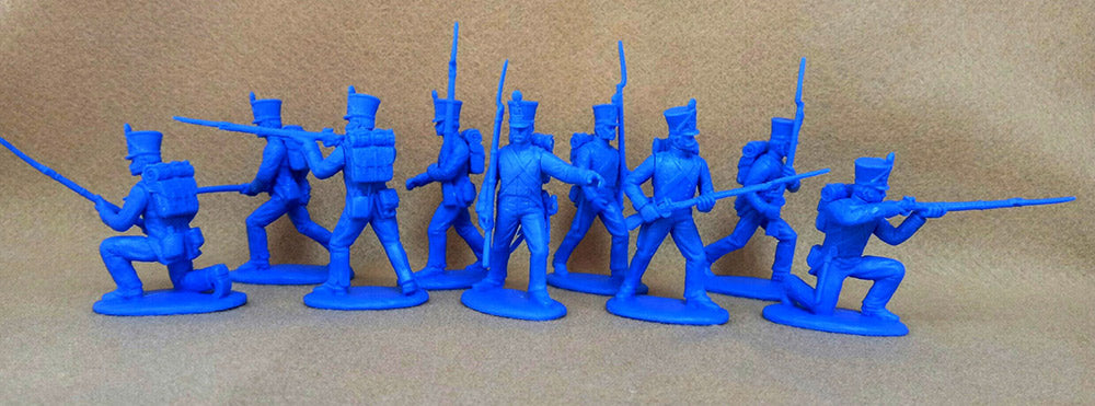 Napoleonic Wars French Fusiliers 1812 –1815, 54 mm (1/32) Scale Plastic Figures By Expeditionary Force