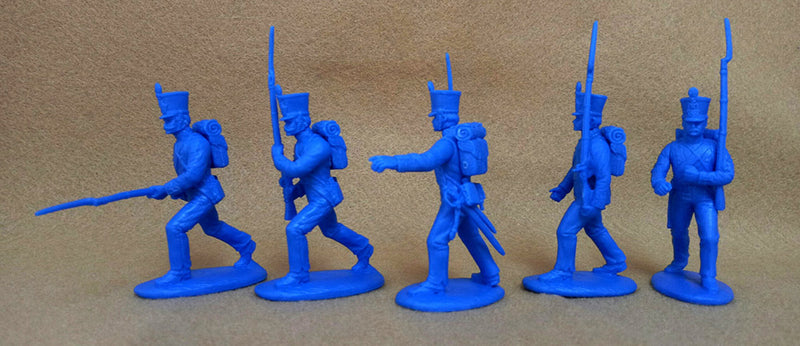 Napoleonic Wars French Fusiliers 1812 –1815, 54 mm (1/32) Scale Plastic Figures