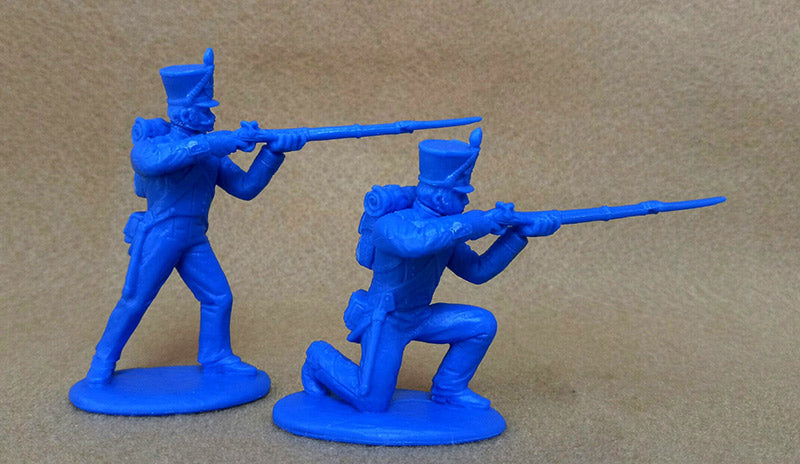 Napoleonic Wars French Fusiliers 1812 –1815, 54 mm (1/32) Scale Plastic Figures By Expeditionary Force Firing Poses