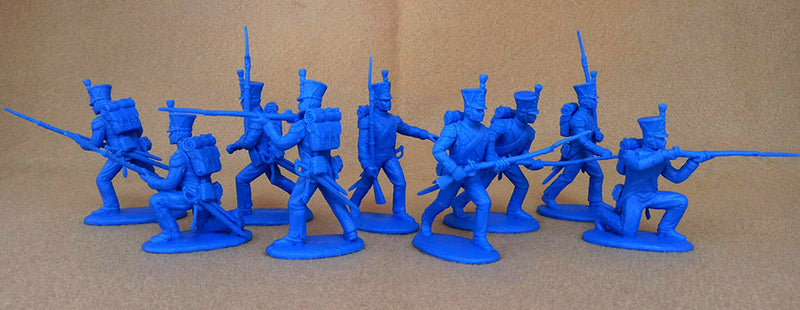 Napoleonic Wars French Grenadiers & Voltguers, 54 mm (1/32) Scale Plastic Figures By Expeditionary Force