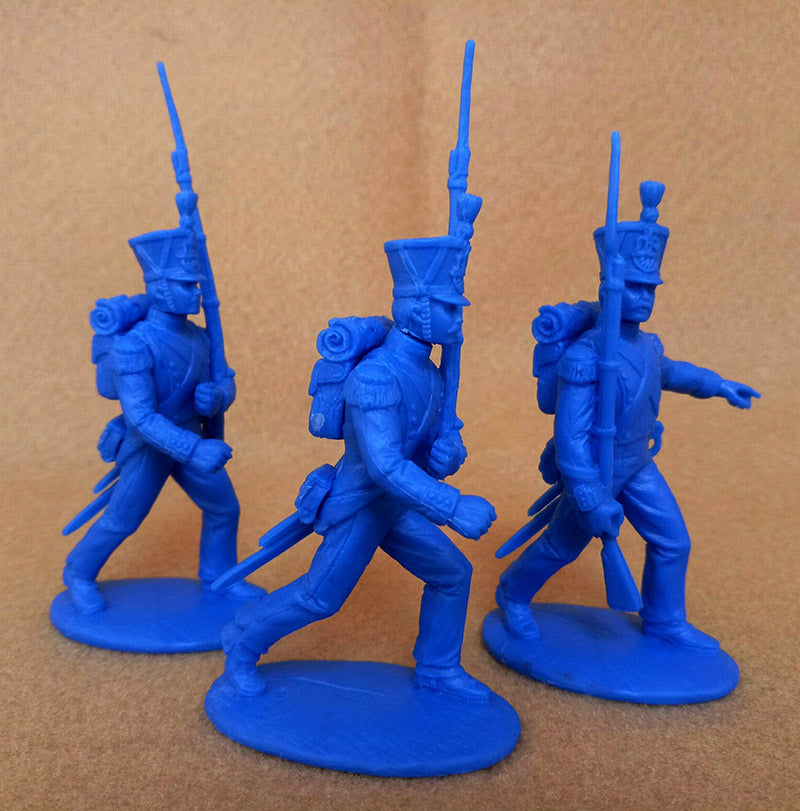 Napoleonic Wars French Grenadiers & Voltguers, 54 mm (1/32) Scale Plastic Figures By Expeditionary Force On The March