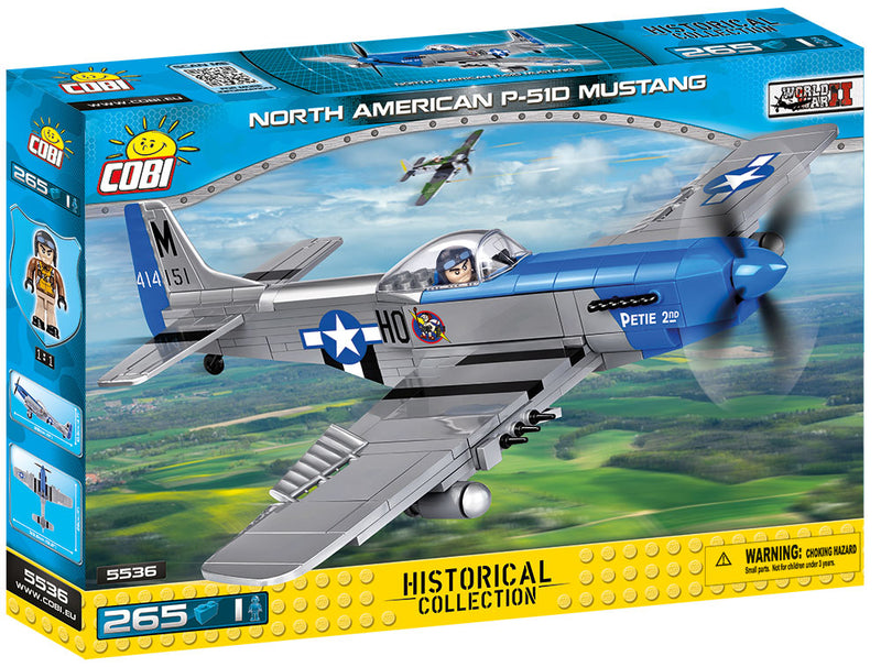 North American P-51D Mustang 1944, 265 Piece Block Kit By Cobi