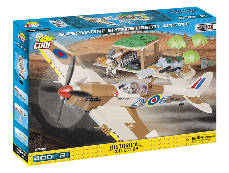 Supermarine Spitfire Mk. IX Desert Airstrip, 400 Piece Block Kit By Cobi