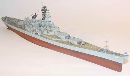 USS Wisconsin Battleship BB-64 1991, 1:700 Scale Model Kit By Trumpeter