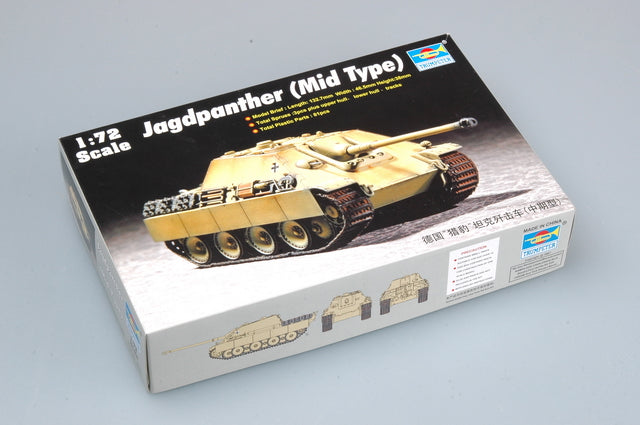Jagdpanther (Mid Type),1:72 Scale Model Kit by Trumpeter