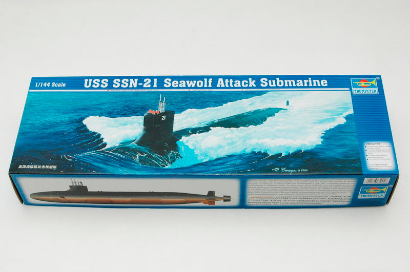 USS Seawolf (SSN-21) Attack Submarine 1:144 Scale Model Kit By Trumpeter