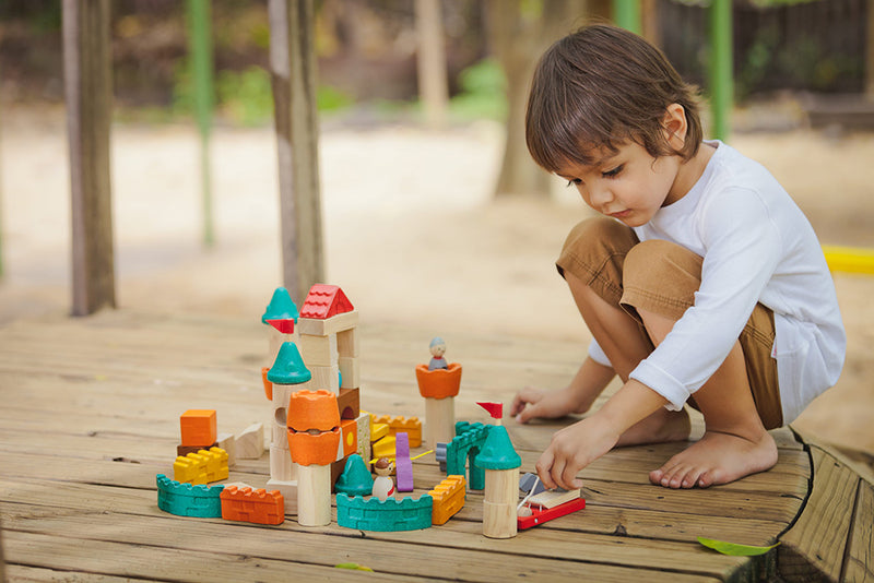 Fantasy Wooden Blocks By Plan Toys