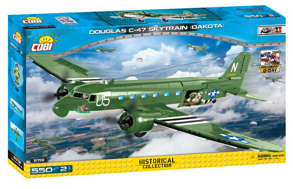 Douglas C-47 Skytrain (Dakota), 550 Piece Block Kit By Cobi Box Front