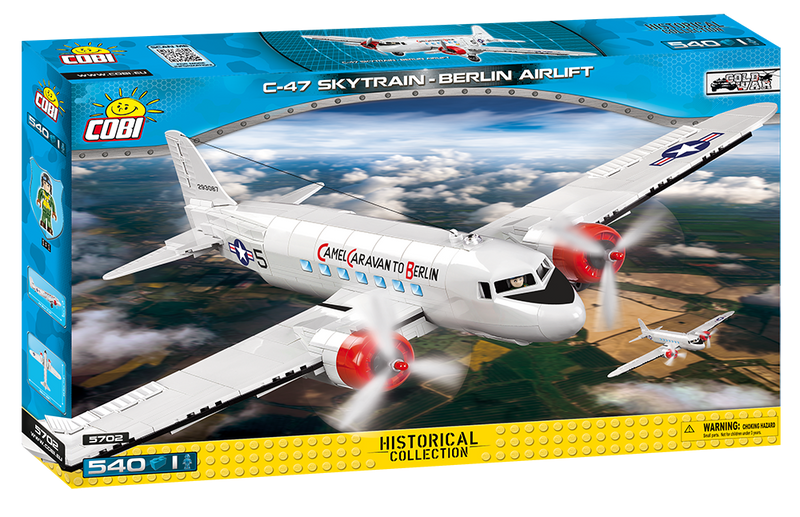 Douglas C-47 Skytrain (Dakota) Berlin Airlift 540 Piece Block Kit By Cobi