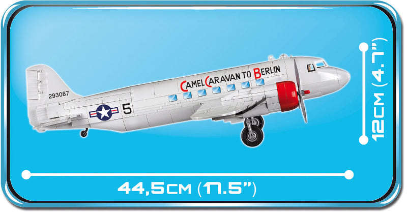Douglas C-47 Skytrain (Dakota) Berlin Airlift 540 Piece Block Kit Side View