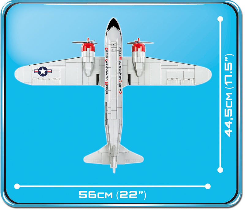 Douglas C-47 Skytrain (Dakota) Berlin Airlift 540 Piece Block Kit Top View