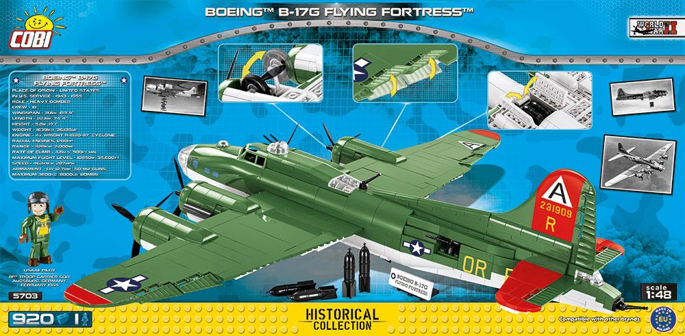 Boeing B-17G Flying Fortress 920 Piece Block Kit By Cobi Box Back