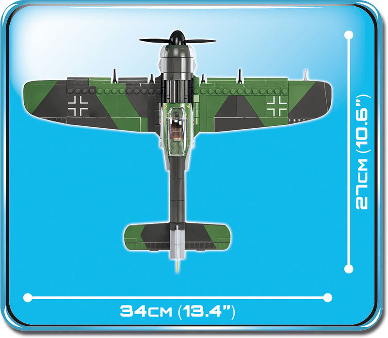 Focke-Wulf Fw 190 A-8, 285 Piece Block Kit By Cobi Top View Dimensions