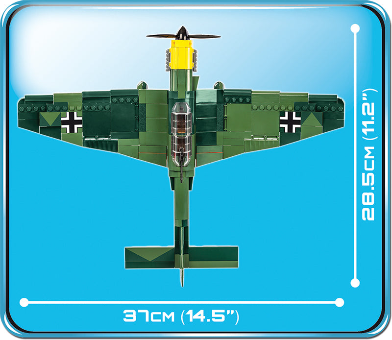 Junkers Ju 87 B-3 Stuka, 370 Piece Block Kit Top View Dimensions