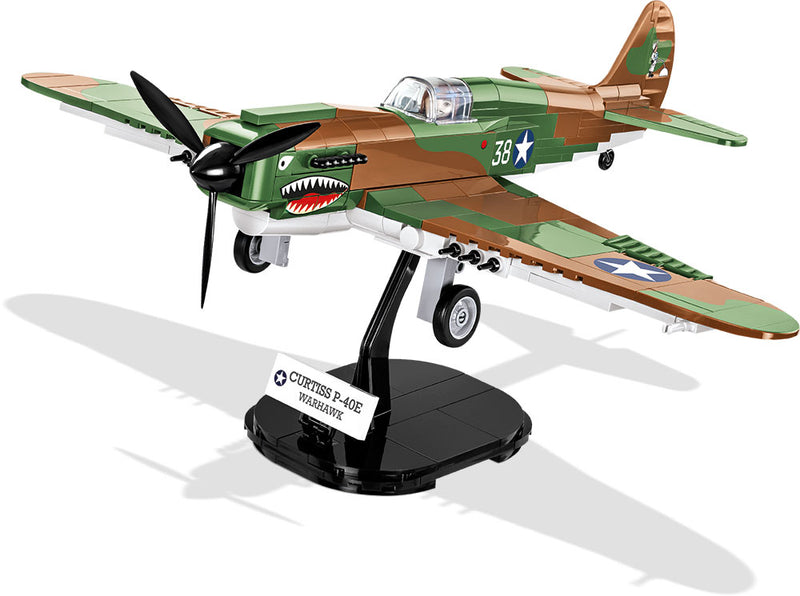Curtiss P-40E Warhawk, 272 Piece Block Kit By Cobi On Stand