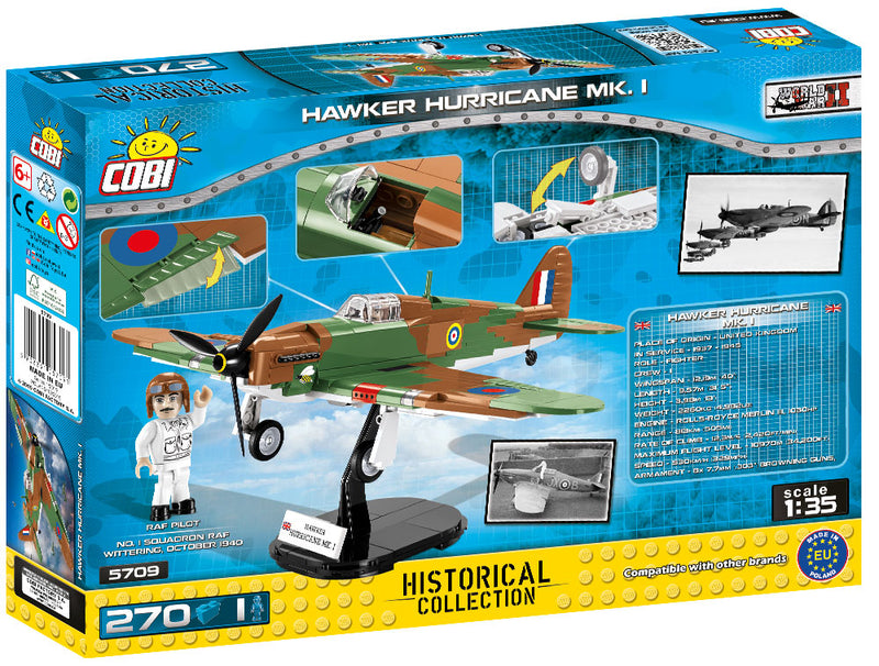 Hawker Hurricane Mk I, 270 Piece Block Kit Back Of Box