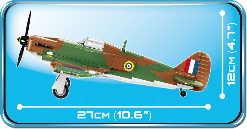 Hawker Hurricane Mk I, 270 Piece Block Kit Side View