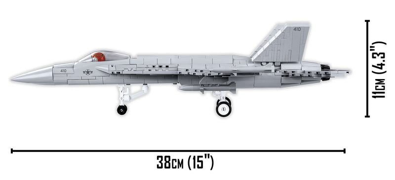 Top Gun Maverick Boeing F/A-18E Super Hornet 555 Piece Block Kit Side View