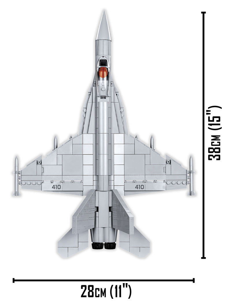 Top Gun Maverick Boeing F/A-18E Super Hornet 555 Piece Block Kit Top View