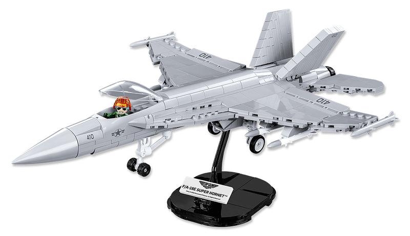 Top Gun Maverick Boeing F/A-18E Super Hornet 555 Piece Block Kit On Stand