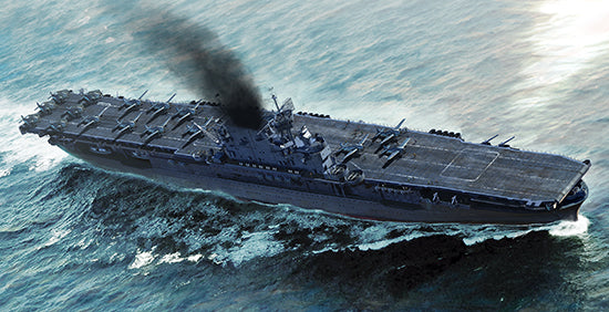 USS Enterprise Aircraft Carrier CV-6, 1:700 Scale Model Kit