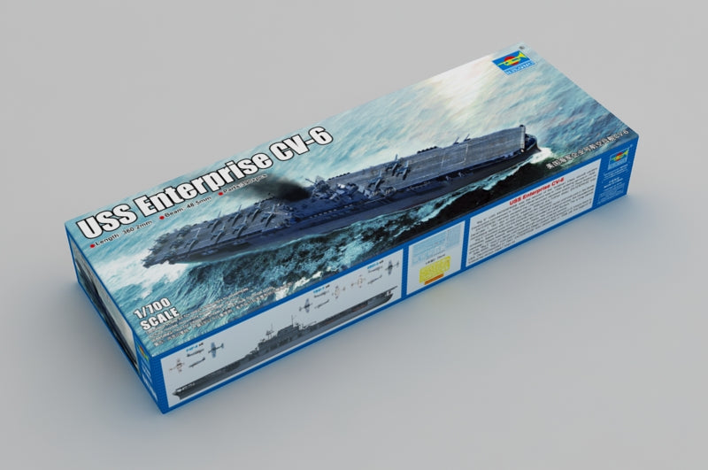 USS Enterprise Aircraft Carrier CV-6,1:700 Scale Model Kit By Trumpeter