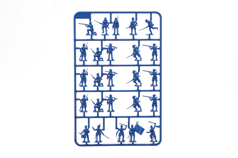 American Civil War Union Infantry & Zouaves, 1/72 Scale Plastic Figures Sprue 1