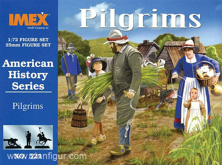 Pilgrims 1/72 Scale Plastic Figures By IMEX