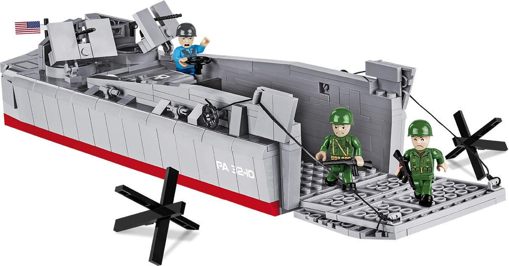 Landing Craft Vehicle Personnel (LCVP) Higgins Boat D-Day 1:35 Scale, 510 Piece Block Kit By Cobi