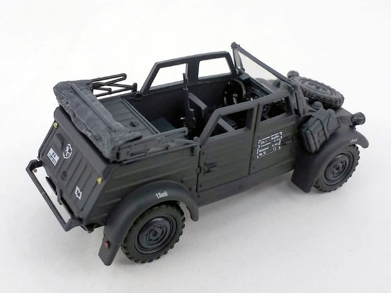 Volkswagen Kübelwagen K Type 82 Convertible (Black) 1:43 Scale Model Right Rear View