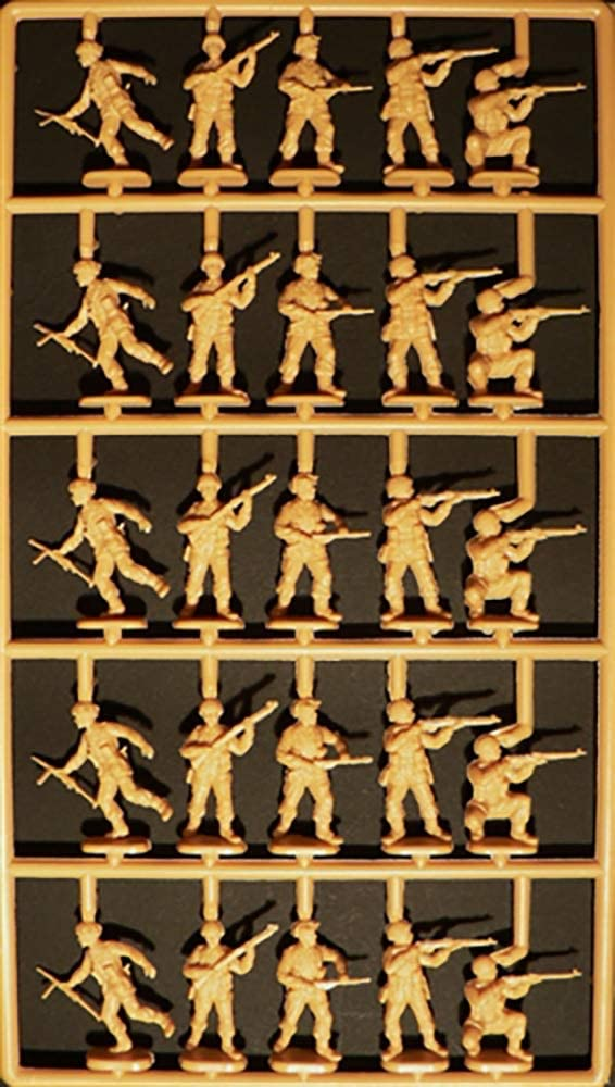 "British Paratroopers ""Red Devils"", 1/72 Scale Plastic Figures Kit Sprue"