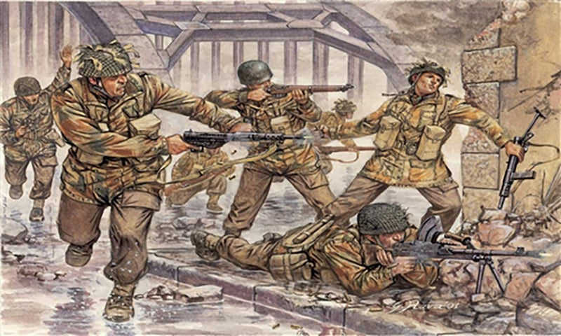 "British Paratroopers ""Red Devils"", 1/72 Scale Plastic Figures Kit Box Art"